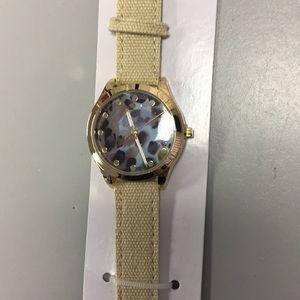 Accessories - Fashion women's watch beige animal print new